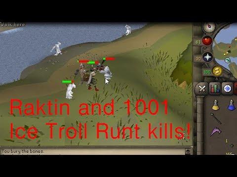 Runescape 2007 Raktin And 1001 Ice Troll Runt Kills!