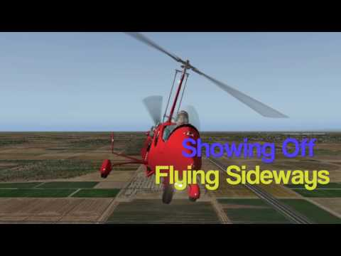 ELA 07 Gyro - Practice Landings and Low Passes 7-25-17