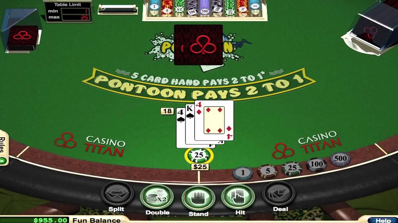 Difference between pontoon blackjack
