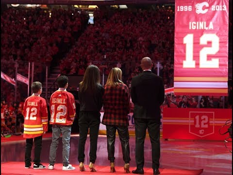 FULL Jarome Iginla Jersey Retirement Ceremony