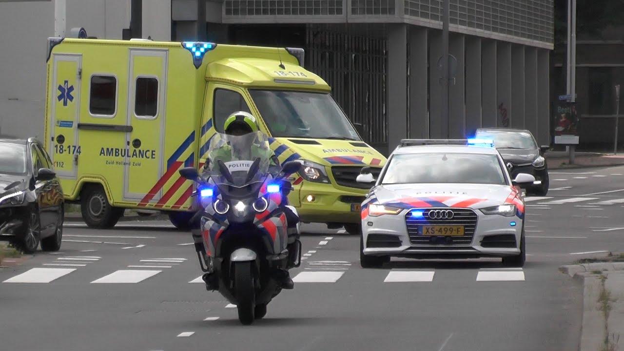 Verkeerspolitie begeleidt Ambulance met spoed naar het ziekenhuis! #1149