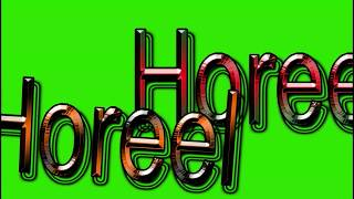 Horeel Name Green Screen Video | Horeel Name Effects chroma key Animated Video
