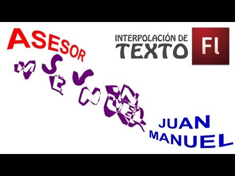 Tutorial de Flash - Interpolación de Texto - Interpolación de Forma
