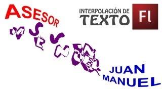 Tutorial de Flash - Interpolación de Texto - Interpolación de Forma