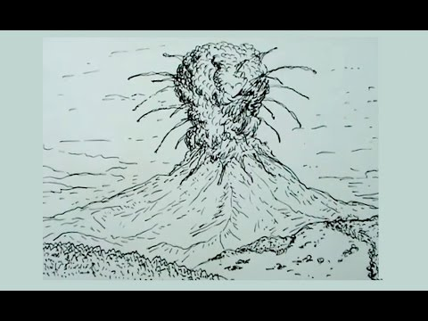 Cómo Dibujar Un Volcán En Erupción Youtube