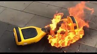 горящий гироскутер. Почему гироскутер может загореться?