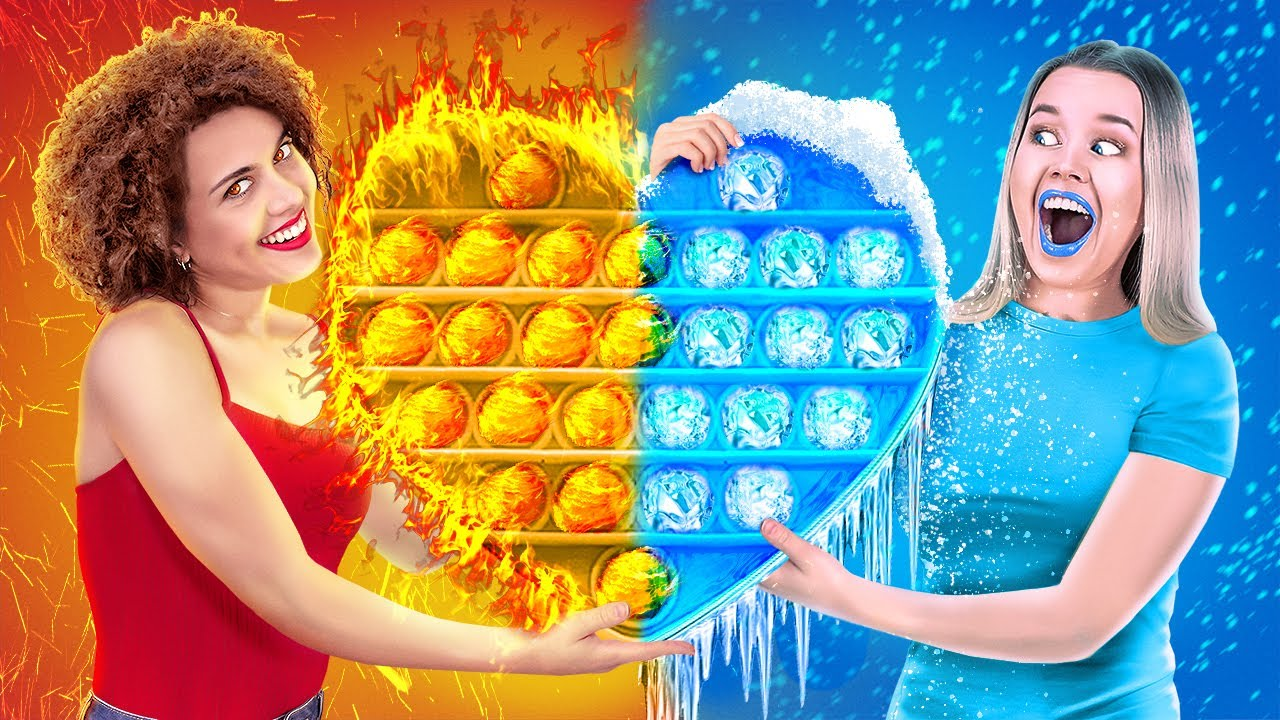 HOT VS COLD CHALLENGE || Icy Girl VS Girl On Fire! Last To STOP Wins By 123 GO! Live