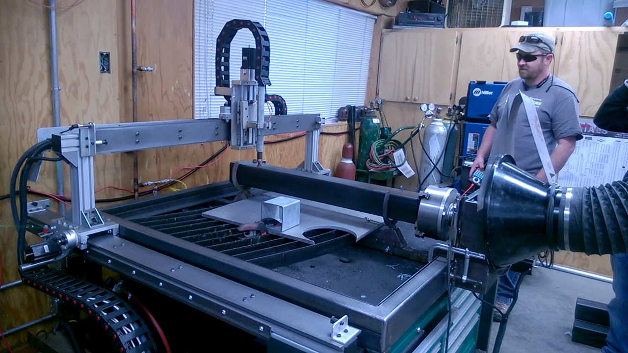 Cutting Square Tubing With Rotary Plasma Attachment Youtube