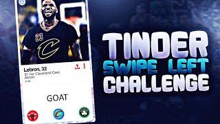 SWIPE LEFT TINDER CHALLENGE! NBA 2K17 MY LEAGUE