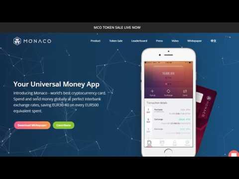 MONACO VISA® Card - дебетовая криптовалютная карта