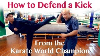 How to Defend a Kick from the Karate World Champion - Wing Chun streaming