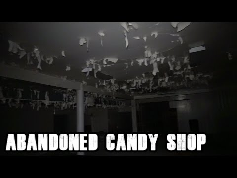 Exploring an Abandoned Candy Shop/Store - door wide open and someone ate the candy