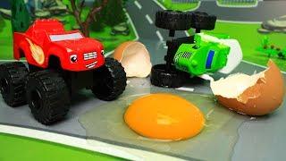 Видео для детей - Яйцо динозавра! Мультики про игрушки вспыш и чудо машинки новинки
