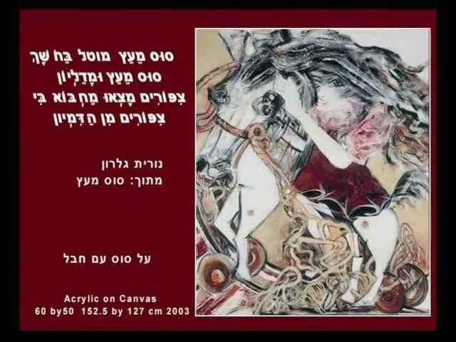 מצגת ציורים של האמנית אילנה רביב.