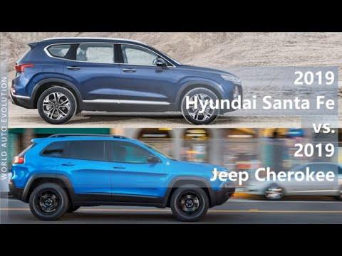 2019 Hyundai Santa Fe Vs 2019 Jeep Cherokee Technical Comparison Youtube
