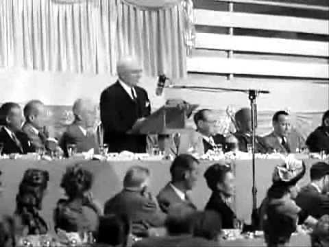 Agnes Moorehead ~ at MGM's 25'th Anniversary Dinner