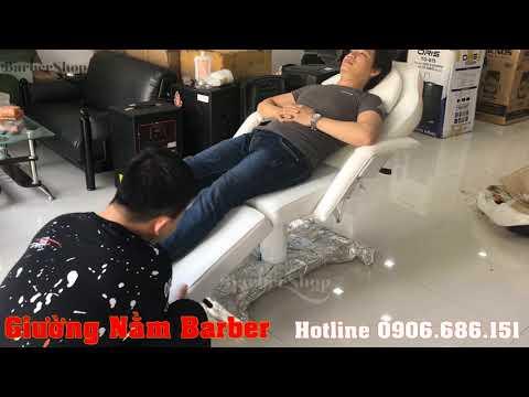 Giường Nằm Barber - Mẫu giường sang trọng cho tiệm Xăm, Matxa
