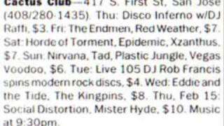 Nirvana - Cactus club - Been a son - SBD