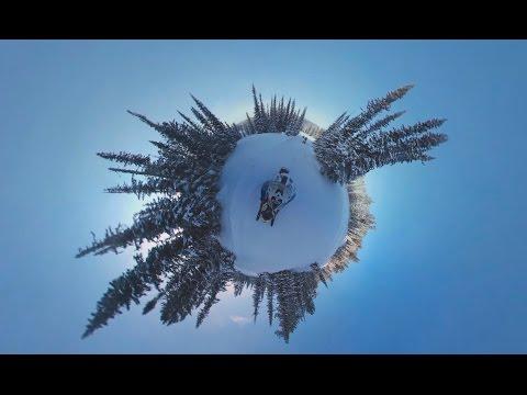 Winter wonderland in 360! Super speedy snow ride in Siberian nature park