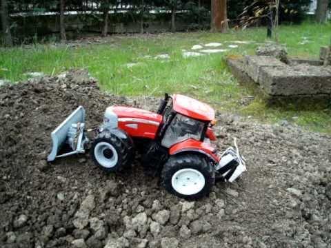 Rc Tractors With Plows TRACTOR BRUDER RC TEST RUSPA TERRA Schneeraumschild Snow Blade