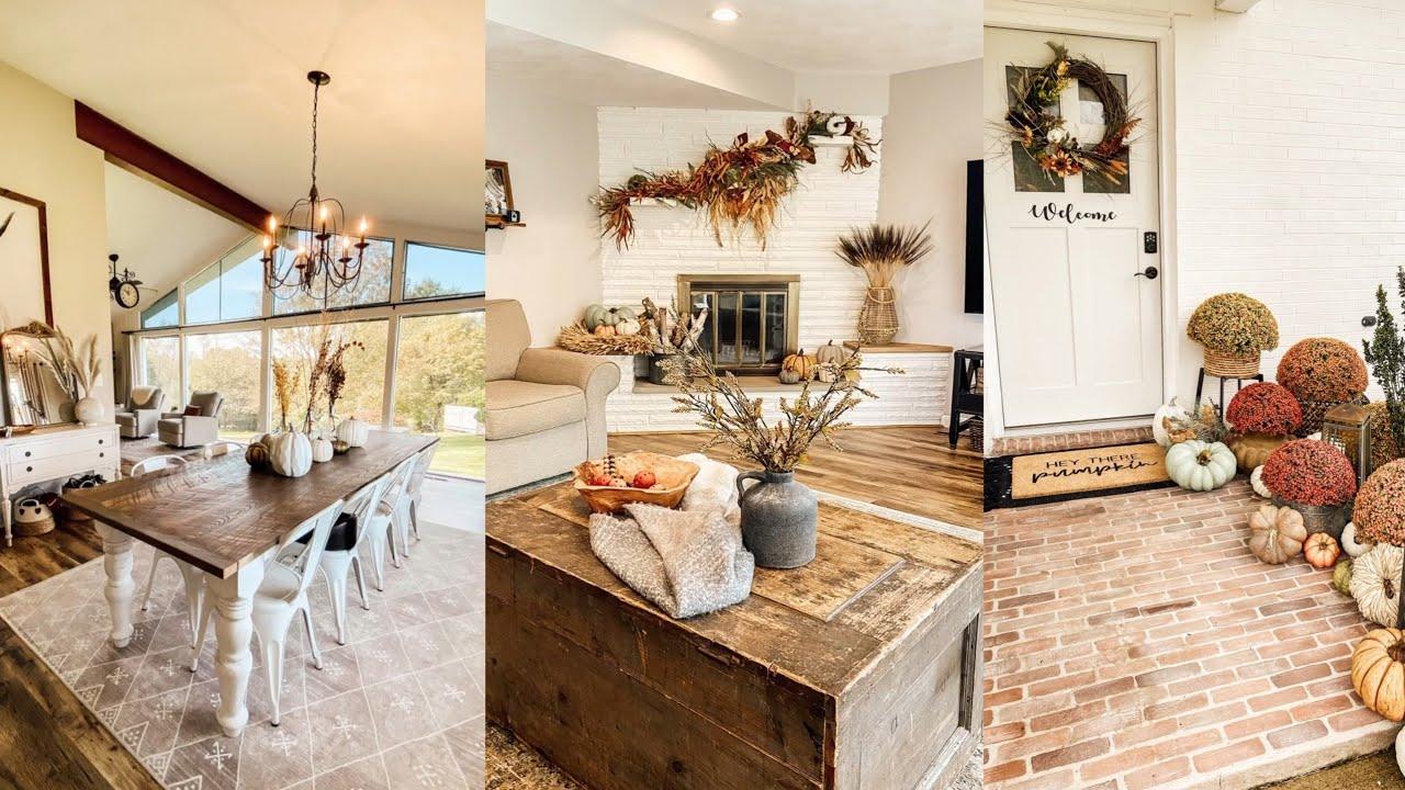 Cozy Fall Farmhouse Tour | Fall Decorating Ideas | Fall Farmhouse Style