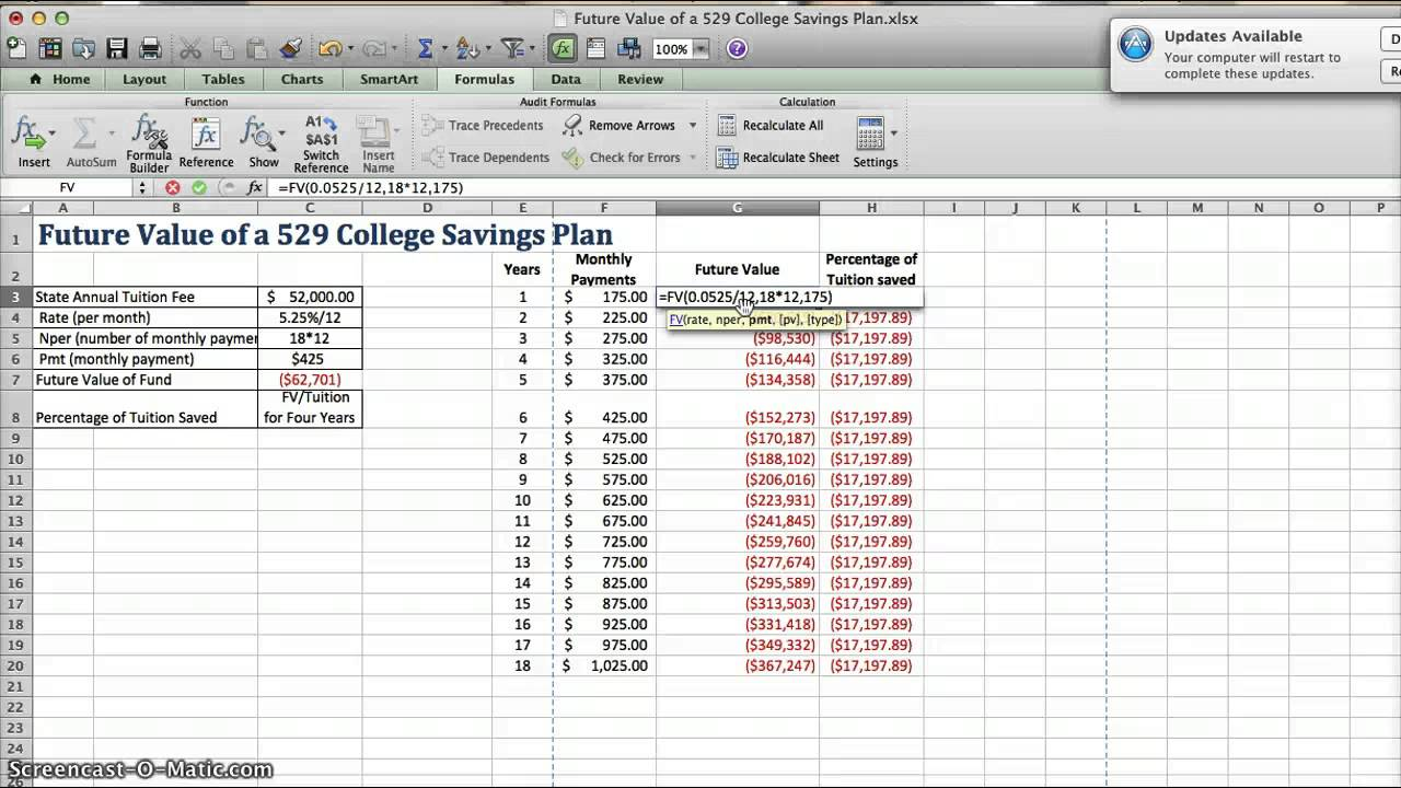 Future Value Of A 529 College Savings Plan Youtube