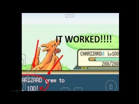 Cheat for lvl 100 Pokemon in fire red