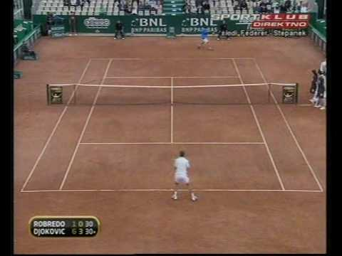 Novak Djokovic vs Tommy Robredo Masters Rome 2009 Round 3 - Highlights HQ