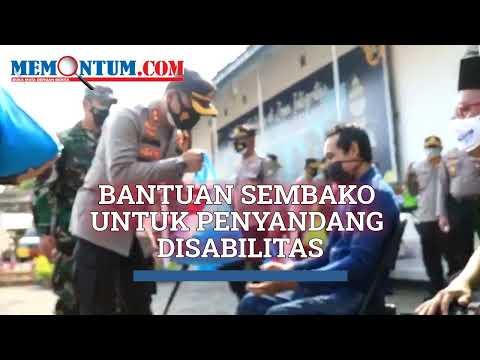 Kapolres bersama TNI dan Pemkot Probolinggo Berikan Bantuan Sembako kepada Kaum Disabilitas