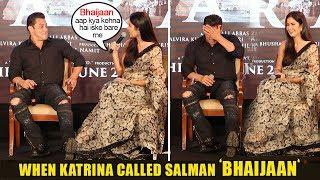 Salman Khan's Hilarious Reaction When Katrina Kaif Calls Him 'Bhaijaan' in front of World Media