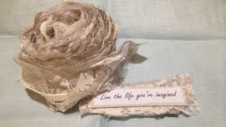 Scrappy Lace Snippet Rolls - Using Up Your Scraps