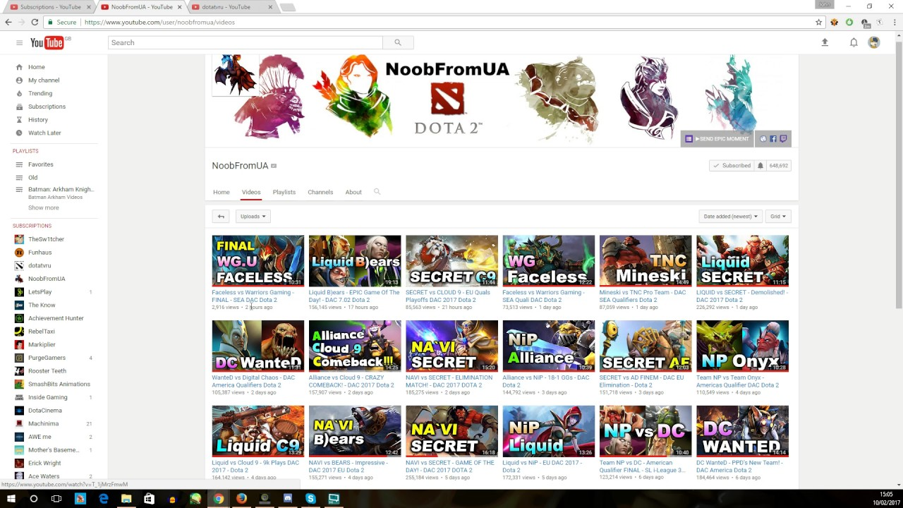 Youtube sub box not updating