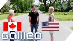 Grenz-Wahnsinn - Überqueren verboten! Diese Straße ist die Grenze zwischen USA und Kanada | Galileo