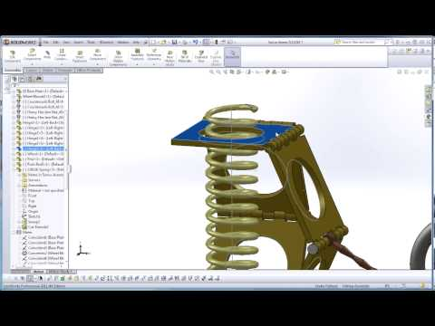 SolidWorks, Modeling a Spring for an Interactive Assembly, Part 3, Details, In Context Assembly