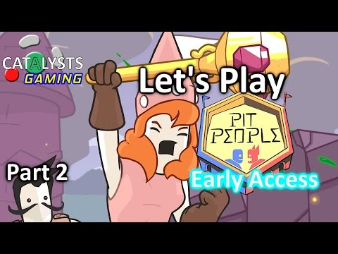 Let's Play Pit People Co-Op (Early Access) Pt. 2 - Baby Flavored Big Battle Barrage