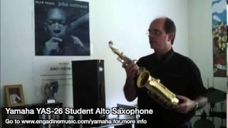 Yamaha YAS 26 Student Alto Saxophone Review