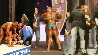 Hungry Bodybuilders Fall Down On Stage