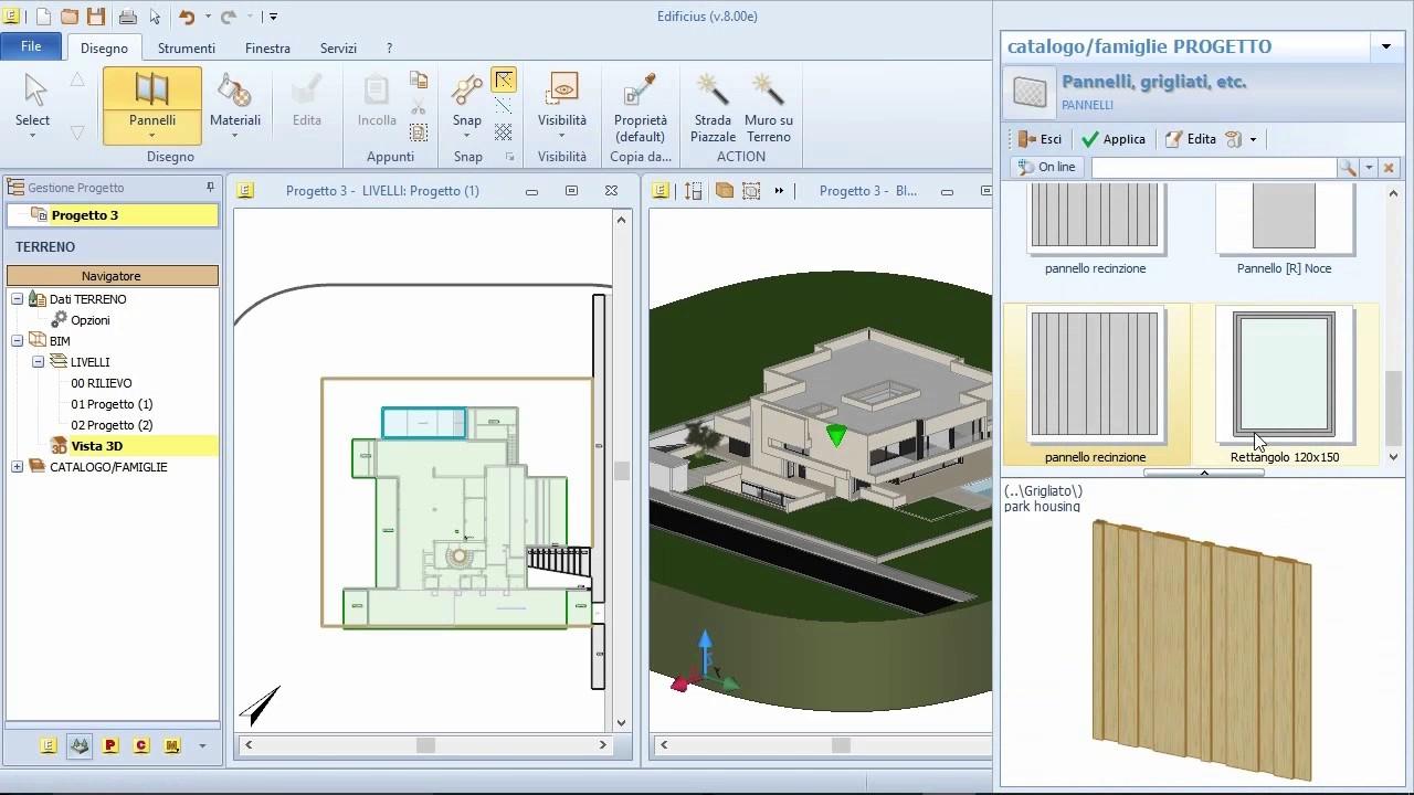 Bim software progettazione architettonica 3d edificius 08 youtube - Software progettazione casa gratis ...