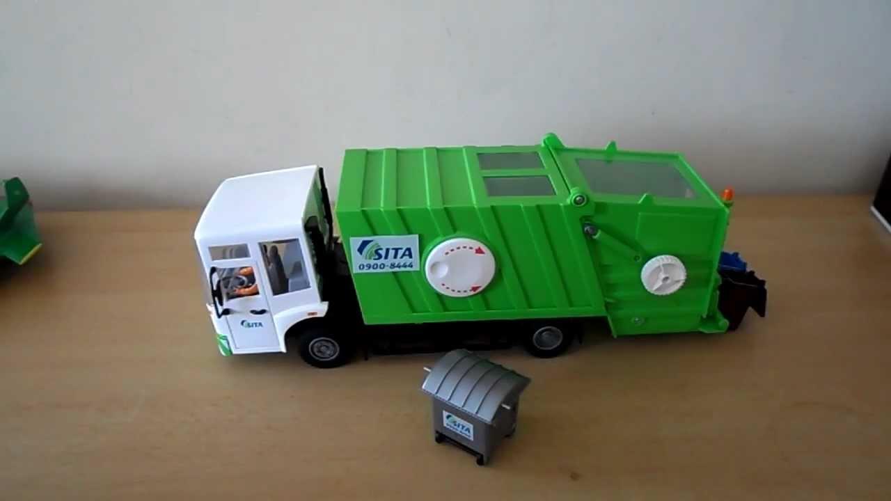Tonka Toy Trucks >> BEST TRASH RECYCLE GARBAGE TRUCK BIN LORRY - YouTube