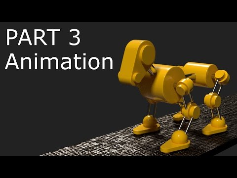 Blender Tutorial: Robot Dog Animation Part 3 – Animation (updated)