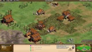 Aoe2 HD: Team Acropolis (Teutons & Turks vs Magyars & Saracens)