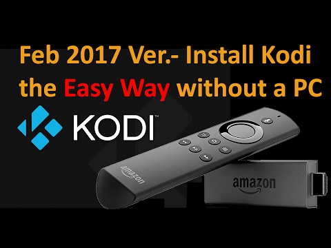 Feb 2017. Easiest way to install Kodi to your Amazon Firestick without a Computer.
