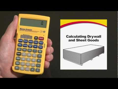 Material Estimator Calculating Drywall How To
