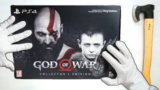 GOD OF WAR COLLECTOR S EDITION UNBOXING Limited Stone Mason Edition GoW 2018 Gameplay