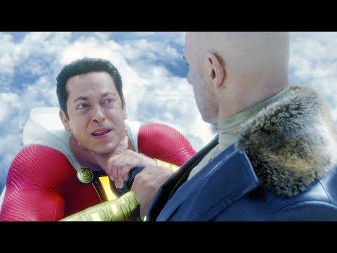 Shazam vs Dr. Sivana (FIrst Fight) | Shazam! [4k]