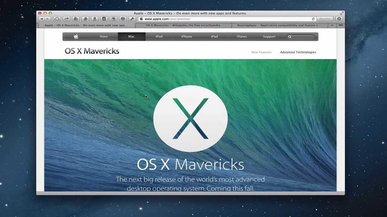 Download mac os x mavericks