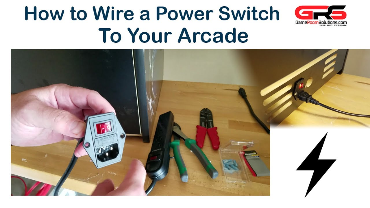 how to wire a power switch to your arcade youtube. Black Bedroom Furniture Sets. Home Design Ideas