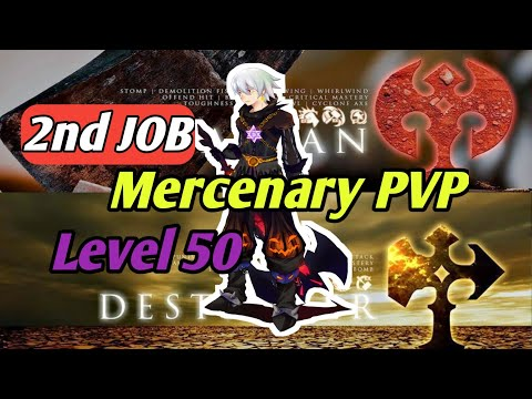 "2nd Job Mercenary PVP Level 50 Dragon Nest M ""Barbarian & Destroyer"""