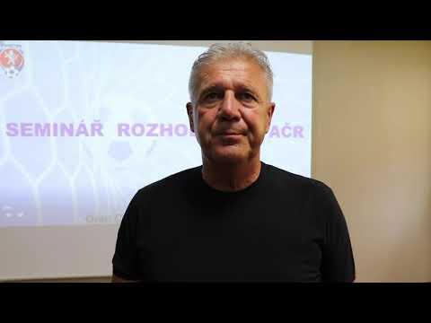 Jozef Chovanec o semináři rozhodčích