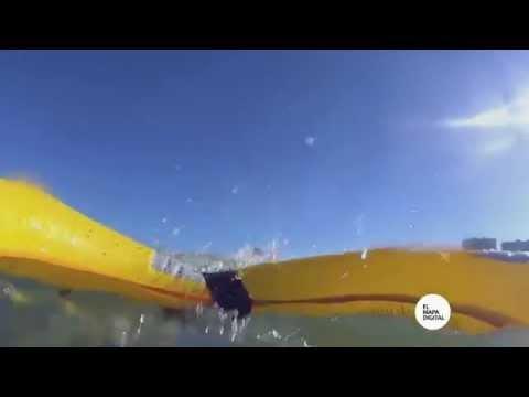 En una playa de Francia los drones van al rescate